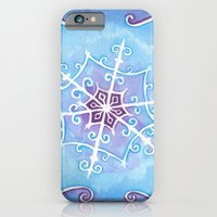 iPhone & iPod Case featuring Watercolor Snowflake by Theresa Flaherty