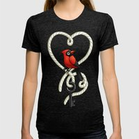 Love Bird Womens Fitted Tee Tri-Black SMALL