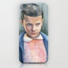 Stranger Things Eleven Portrait   Watercolor Painting Slim Case iPhone 6s