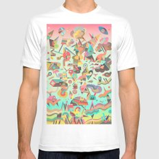 Schema 11 SMALL Mens Fitted Tee White