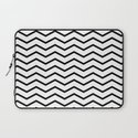 Black Chevron On White Laptop Sleeve