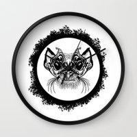 Half Hairy Angry Monkey Wall Clock