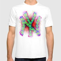 Neon York Mens Fitted Tee White SMALL
