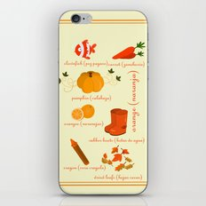 Colors: orange (Los colores: naranja) iPhone & iPod Skin