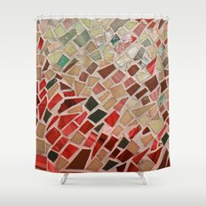 Razzle Red Mosaic Shower Curtain