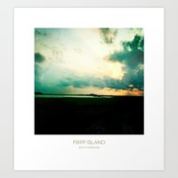 Sunset - Fripp Island So… Art Print