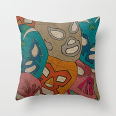 love lucha Throw Pillow