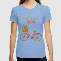 What a nice trip Womens Fitted Tee Tri-Blue SMALL