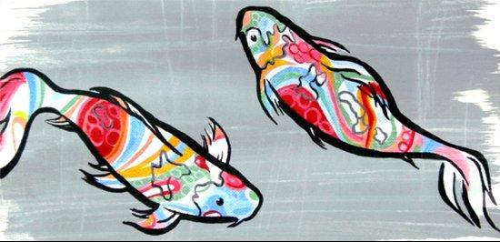 Rainbow Koi Art Print