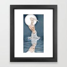 Moonlight Bather Print Framed Art Print