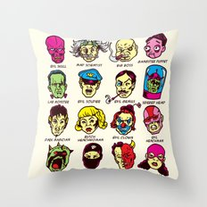 The League of Cliché Evil Super-Villains Throw Pillow