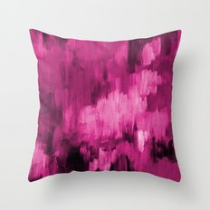 Paint 4 abstract minimal modern art painting canvas affordable art passion pink urban decor Throw Pillow