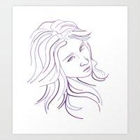 Purple Portrait Art Print