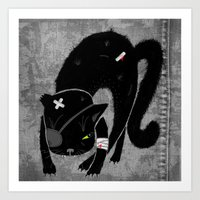 Scary Cat Art Print