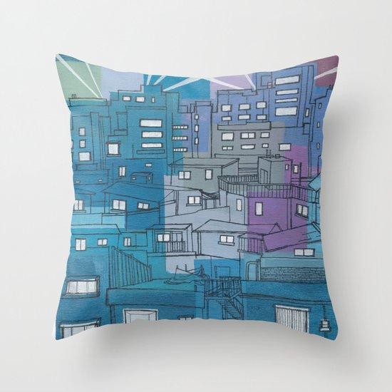 Seoul City #3 Throw Pillow