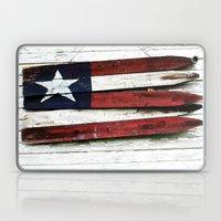 The Grand Ol' Wooden Flag Laptop & iPad Skin