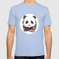 panda Mens Fitted Tee Tri-Blue SMALL
