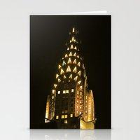 Chrysler Building At Nig… Stationery Cards