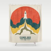 Come See The Universe Shower Curtain