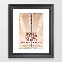 Scott Pilgrim Vs. The World Framed Art Print