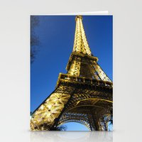 Eiffel - Night Stationery Cards