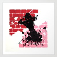 Woman Warrior Art Print