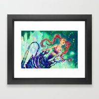 Ink Girl Framed Art Print