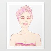 TURBAN LADY Art Print
