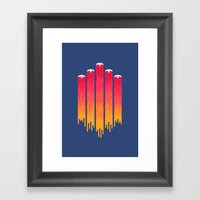 Break the Night with Color Framed Art Print