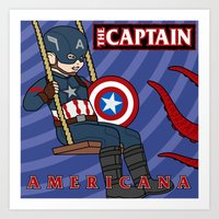 Captain Americana Art Print