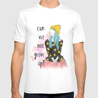 Can We Not Grow Up?  Mens Fitted Tee White SMALL