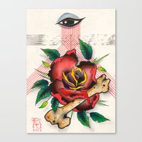 The Eye, The Rose, The B… Canvas Print