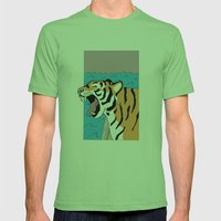 Tiger Yawn Mens Fitted Tee Grass SMALL