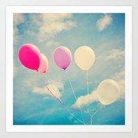 Balloon Bouquet Art Print