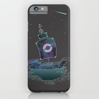 iPhone & iPod Case featuring The Adventures Of The Space Ship! by Logan Schraeder