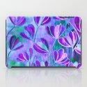 EFFLORESCENCE Lavender Purple Blue Colorful Floral Watercolor Painting Summer Garden Flowers Pattern iPad Case