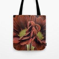 Red Chrysanthemum Duo Tote Bag