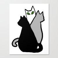 Katze Canvas Print