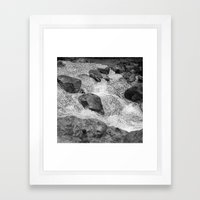 geometric waterfall Framed Art Print
