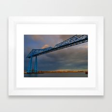 Middlesbrough Transporter Bridge Framed Art Print