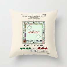 Monopoly Patent Throw Pillow