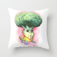 They Eat Their Own Hair Throw Pillow