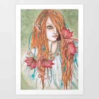 Crimson Wings - Enchante… Art Print