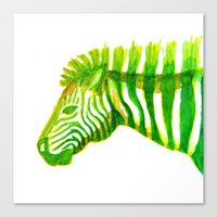 Zebra Watercolor Print Canvas Print