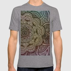 Mandala Mens Fitted Tee Athletic Grey SMALL