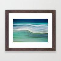 OCEAN ABSTRACT Framed Art Print