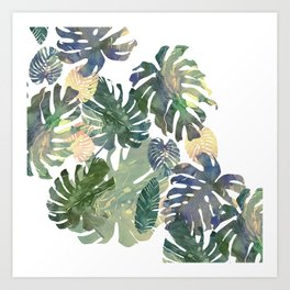 Art Print - Tropical Leaves - franciscomffonseca