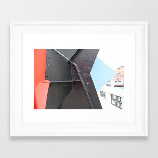Peggy Guggenheim court yard Framed Art Print