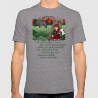 Little Red Riding Hood Versus Big Bad Wolf Mens Fitted Tee Tri-Grey SMALL