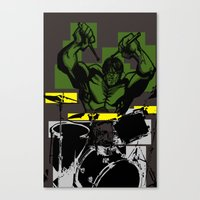 Smash the Drums... Canvas Print